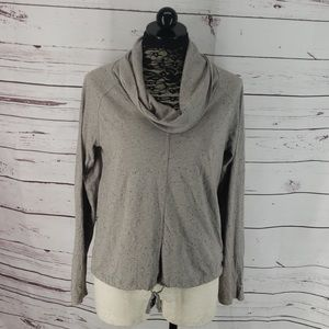Columbia Medium Space Grey Cowl Neck Pullover top
